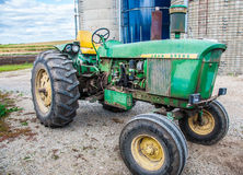 John Deere tractor on a farm Stock Photo