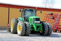 John Deere 6630 Tractor at Spring Stock Photos
