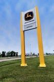 John Deere vägmärke Fotografering för Bildbyråer