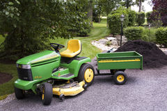 John Deere with Wagon Royalty Free Stock Images