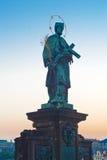 John della statua di Nepomuk Fotografia Stock Libera da Diritti