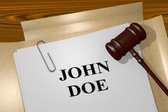 John Doe - legal concept Royalty Free Stock Photo