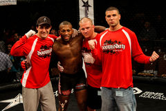 John Doomsday Howard. And his team poses after beating Chris Cappi Woodall, June 7, 2013 at Twin River Casino, Lincoln, RI Stock Images