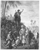 John Doopsgezind predikt in de Wildernis royalty-vrije illustratie