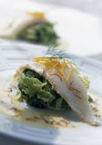 John Dory fillet with orange butter Stock Image