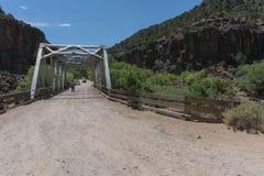 John Dunn bridge in New Mexico. The John Dunn Bridge in northern New Mexico crosses the Rio Grande at the confluence with the Rio Hondo. Photo taken June 30th royalty free stock photo