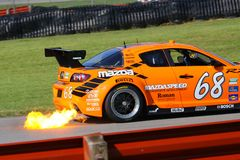John Edwards pro driver. John Edwards races the Mazda RX-8 for the MazdaSpeed Motorsports Race team at the professional motorsports racing event, International stock photo