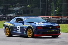 John Edwards races the Camaro Stock Photos