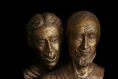 John en Peter, de verrassing van Pasen Stock Foto's