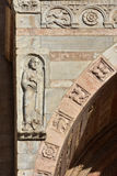 John the Evangelist from Verona Cathedral romanesque porch Stock Photos