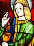 John evangelisten, konst för målat glassfönster Arkivfoton