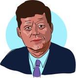 John F. Kennedy ilustração do vetor