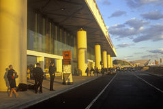 John F. Kennedy Airport at sunset, New York City, NY Stock Photos