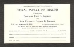 John F. Kennedy Assassination. The most famous dinner that never happened. The famous Texas Welcome Dinner that John F. Kennedy was scheduled to attend in Austin Stock Photos