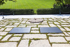 John F. Kennedy Eternal Flame Stock Images