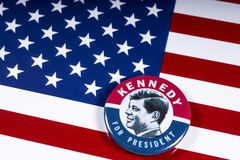 John F. Kennedy für US Präsidenten lizenzfreies stockbild