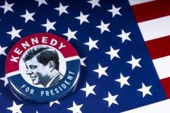 John F. Kennedy für US Präsidenten stockfotos