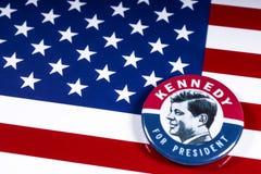 John F. Kennedy für US Präsidenten lizenzfreies stockfoto