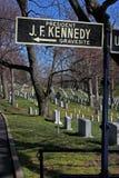 John F. Kennedy Gravesite stock fotografie
