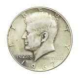 John F Kennedy Halve Dollar Royalty-vrije Stock Fotografie