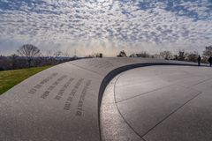 John F Kennedy Memorial in Arlinton National Cemetary, royalty free stock images
