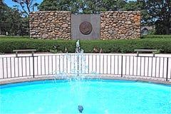 John F Kennedy Memorial Cape Cod-doctorandus in de letteren stock fotografie