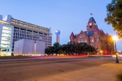 John F Kennedy Memorial Plaza à Dallas image libre de droits