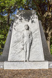 John F. Kennedy Memorial Statue. At Henry B. Plant museum in Tampa, Florida stock photos