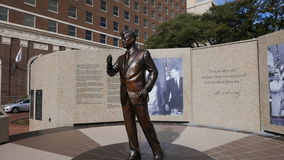 John F Kennedy Memorial Tribute à Fort Worth du centre, Texas February 2017 Image libre de droits