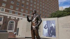 John F Kennedy Pamiątkowy uznanie w W centrum Fort Worth, Teksas Luty 2017 Zdjęcia Stock