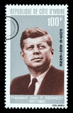 John F. Kennedy Postage Stamp Royalty Free Stock Images