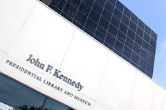 John F Kennedy Presidential Library. The John F. Kennedy Presidential Library and Museum is the presidential library and museum of John Fitzgerald Kennedy, the Stock Image