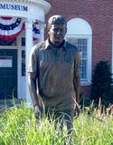 John F Kennedy. Statue of John F Kennedy at the JFK Museum in Hyannis, Massachussets royalty free stock image