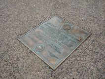 John F. Kennedy Stood Here, Philadelphia, Pennsylvania, USA royalty free stock images