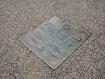 John F Kennedy Stood Here, Philadelphie, Pennsylvanie, Etats-Unis Images libres de droits