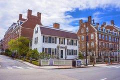 John F Kennedy Street i Harvarduniversitetetområde av Cambridge arkivbild