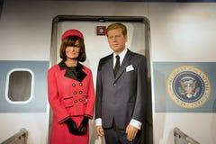 John F Kennedy Wax Figure imagenes de archivo