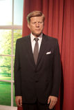 John F. Kennedy. Wax statue at Madame Tussauds in London royalty free stock images