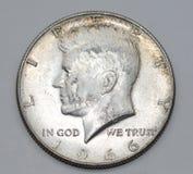 1966 John Fitzgerald Kennedy Half Dollar Stock Afbeelding