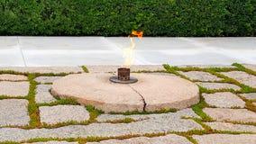 John Fitzgerald Kennedy Memorial Flame imagem de stock