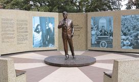 John Fitzgerald Kennedy Memorial Garden. 35th President of the United States in downtown Fort Worth, Texas royalty free stock photo