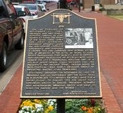 John Fitzgerald Kennedy Memorial Marker Arkivfoto