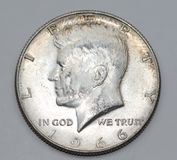 1966 John Fitzgerald Kennedy Przyrodni dolar Obraz Stock