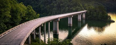 John Flanagan Lake Bridge Images libres de droits
