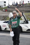 John force salutation Royalty Free Stock Photography