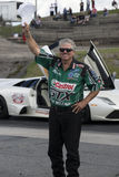 John force salutation Stock Image