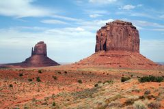 John Ford Country. The Mitten and Merrick Butte at Monument Valley royalty free stock photography