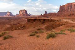 John Ford Point in Monument Valley, afternoon Royalty Free Stock Images