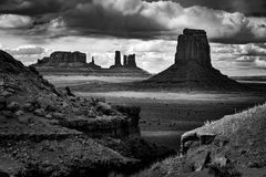 John Ford Point Monument Valley Black en Wit Royalty-vrije Stock Fotografie