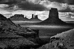 John Ford Point Monument Valley Black och vit Royaltyfri Fotografi